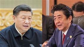 中國國家主席習近平、日本首相安倍晉三(組合圖/翻攝自新華網、推特)