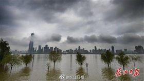 """武汉未来两天继续与暴雨""""作伴"""",局部还有雷暴大风 中國大陸,長江,三峽大壩,洪水,淹水 圖/翻攝自長江日報"""
