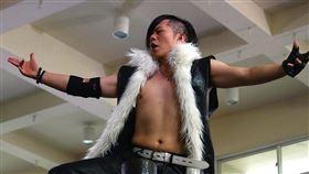 職業摔角選手,惡王Kazuya(授權自惡王kazuya粉專)