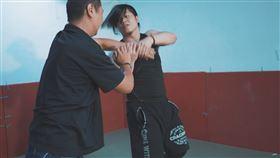 職業摔角選手,惡王Kazuya(記者陳則凱攝影)