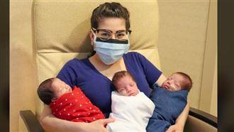 美夫妻確診武肺 治療一周順利產3子