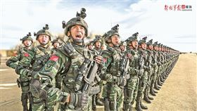 中國武警(圖/翻攝自中國國防部網站)
