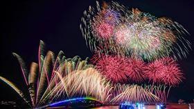 2020澎湖花火節,漫威宇宙。(圖/台灣華特迪士尼提供)