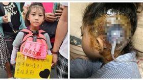 最年幼香燈腳 6歲女:祈求開刀平安(圖/翻攝畫面)