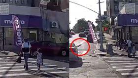 紐約,槍擊,父女,過馬路.監視器畫面