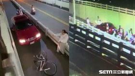 賓士車追撞單車國中生/翻攝畫面
