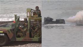 陸軍在台中清水甲南海灘進行第五作戰區「三軍聯合反登陸作戰實彈操演」全兵力任務訓練。(圖/資料畫面)