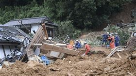 日本九州豪雨成災,圖/美聯社/達志影像