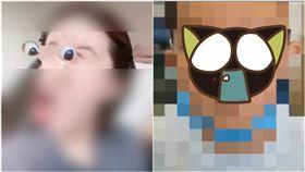 模仿APP特效…6歲童徒手「挖眼球」血管爆裂慘成金魚眼(圖/翻攝自澎派新聞)