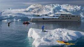 ▲全球第一艘破冰遊艇下水了。(圖/翻攝自推特)