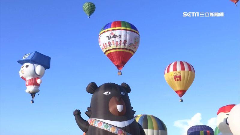 熱氣球嘉年華開幕 萬人擠滿鹿野高台