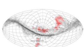 ▲天文學家聲稱,發現一個橫跨14億光年的神祕太空結構。(圖/翻攝自推特)