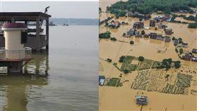 鄱陽湖暴漲破1998年洪水紀錄!官方:已進入戰時狀態。(圖/翻攝自微博)