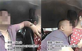 女學開車被蚊子咬!50歲教練稱「口水能止癢」…狂親脖子(圖/翻攝自微博)