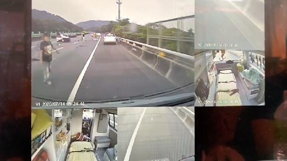 國道3號自撞車禍!汽車突擦撞護欄、2人噴飛 釀3傷送醫