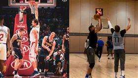NBA/巨神兵練三分 秘密武器曝光 NBA,達拉斯獨行俠,Boban Marjanovic,三分球 翻攝自推特