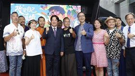 副總統賴清德與前國民黨主席朱立倫今(14)日0 同場出席「美力台灣」十週年紀錄片記者會(圖/朱辦提供)