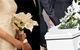 婚禮,葬禮(圖/翻攝自Pixabay)
