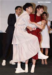 我的青春沒在怕演員侯彥西、喬雅琳。(記者邱榮吉/攝影)