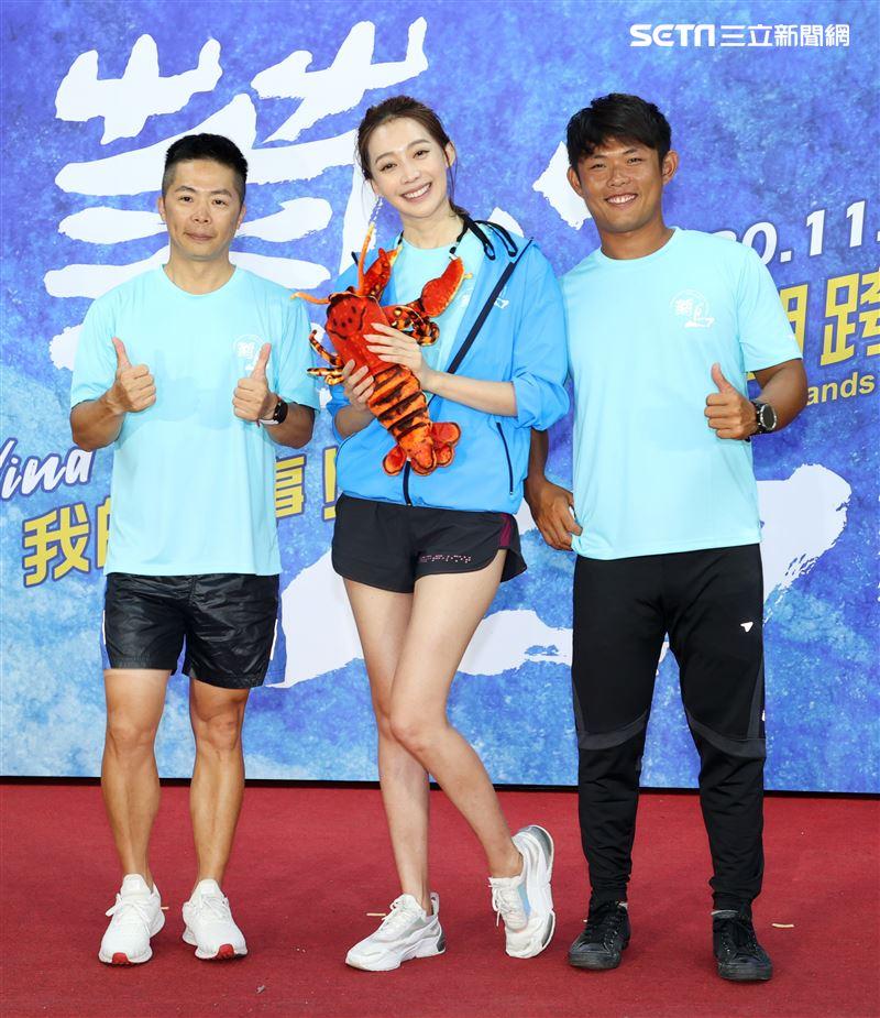 極地探險家林義傑(左)、王心恬(中)與台灣三屆奧運風帆國手張浩(右)。(記者邱榮吉/攝影)