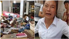 洪水淹了她30個倉庫 女老闆損失2000萬痛哭(圖/翻攝自騰訊視頻)