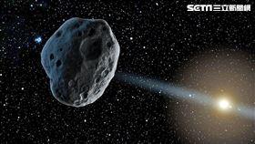 台北天文館小行星示意圖(台北天文館提供)