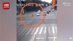 中國,山東,男童,駕駛,玩具車,道路(圖/翻攝自北京時間視頻)