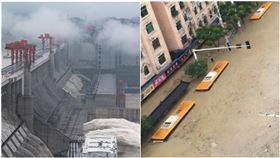公車被滅頂!長江2號洪水猛沖 中國急發「一級應急響應」(圖/翻攝自微博)