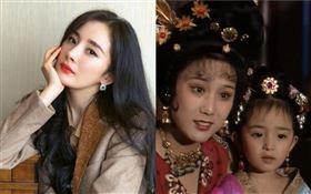曾有「中國第一古典美人」稱號的李建群,在《唐明皇》中跟4歲的楊冪演出母女。微博