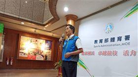 體育署副署長王水文回應動滋券網頁當機問題。(圖/記者陳弋攝影)