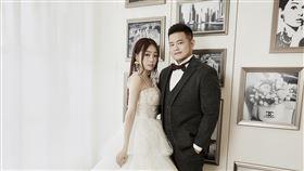 丫頭詹子晴,結婚,王惟立,求婚,婚紗照。圖/LinLi Boutique林莉婚紗提供