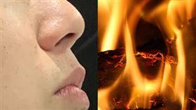 兒子只要聞到燒焦味,就能碰上與火災有關的事。(左圖/資料照,右圖/取自Pixabay)