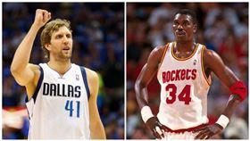 NBA/非洲天王輸德佬?JR怒了 NBA,外籍球員,排名,Hakeem Olajuwon,Dirk Nowitzki,J.R. Smith 翻攝自推特