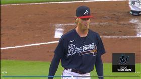 ▲勇士先發投手佛提紐維奇(Mike Foltynewicz)慘挨馬林魚「背靠背靠背」全壘打。(圖/翻攝自MLB官網)