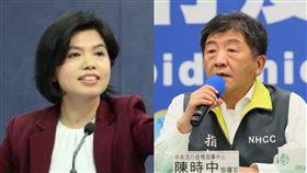 國台辦發言人朱鳳蓮、衛福部長陳時中(圖/資料照)