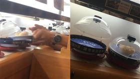 貪心哥2盤計價壽司只取一盤,被網友抓包。(圖/翻攝自爆怨公社)