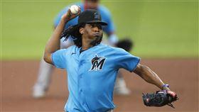 MLB邁阿密馬林魚右投尤瑞尼亞Jose Urena。(圖/美聯社/達志影像)