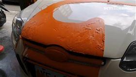 疑因投資糾紛!中藥行車遭「夜襲潑漆」頓時成3色車