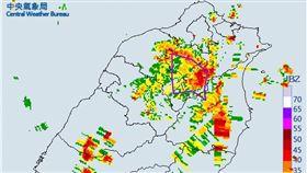 氣象局發布大雷雨訊息。(圖/翻攝自氣象局官網)