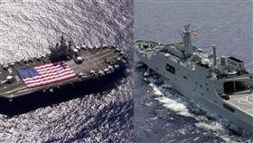 美中軍艦合成圖