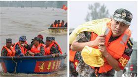 ▲中國官媒報導「長江、淮河告急!安徽民兵緊急出列」。(圖/翻攝《人民日報》官網)