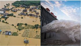 ▲中國洪災頻傳,破千萬居民受災。(組合圖/資料照,翻攝自新華網)