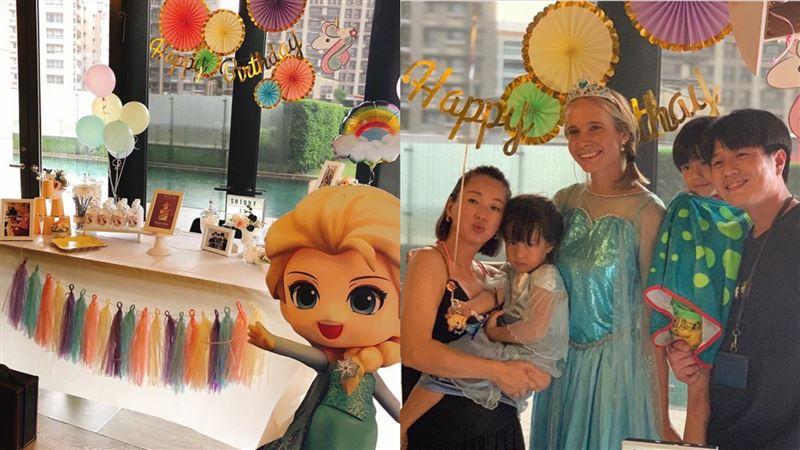 六月女兒浮誇生日趴 驚見迪士尼女神