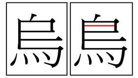 國字,漢字,說文解字,烏,鳥,眼睛
