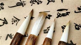 書法,毛筆。(圖/pixabay)