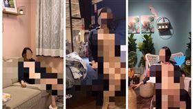 ▲女子6天前貼出一連4張在Ikea台中店裸露的照片,還表示歡迎抖內。(圖/翻攝自推特)