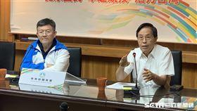 體育署副署長林哲宏(圖左)與王水文。(圖/記者劉家維攝影)