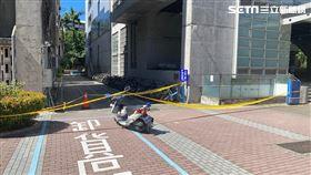 台北科技大學吳姓男校友墜樓送醫不治。(圖/翻攝畫面)