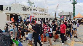 國旅大爆發 綠島遊客爆量