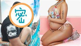 妮姬米娜日前貼出多張懷孕照。(圖/翻攝Nicki Minaj IG)